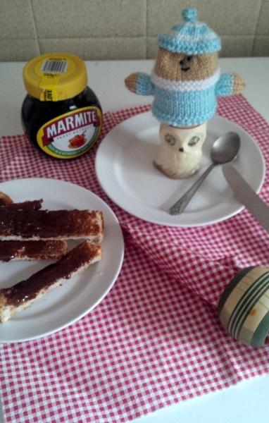 Breakfast with UMMMM Marmite. by pentaxpatty