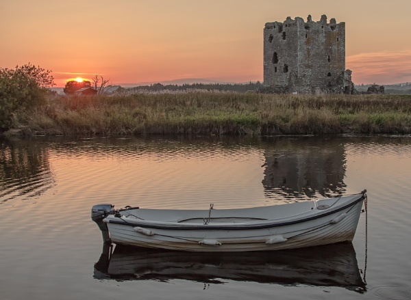 Threave Castle At Sunset by HUFC