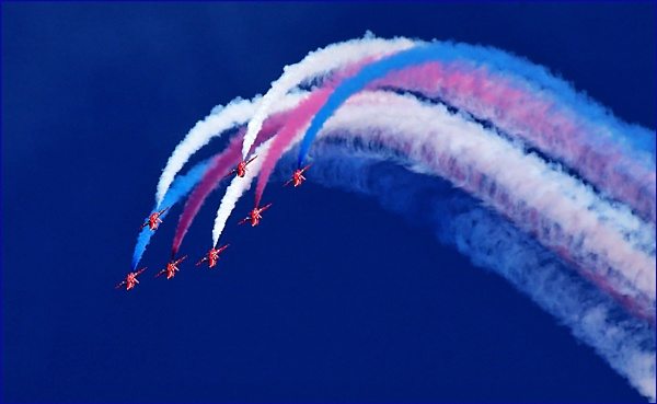 Red Arrows. by Badgerfred