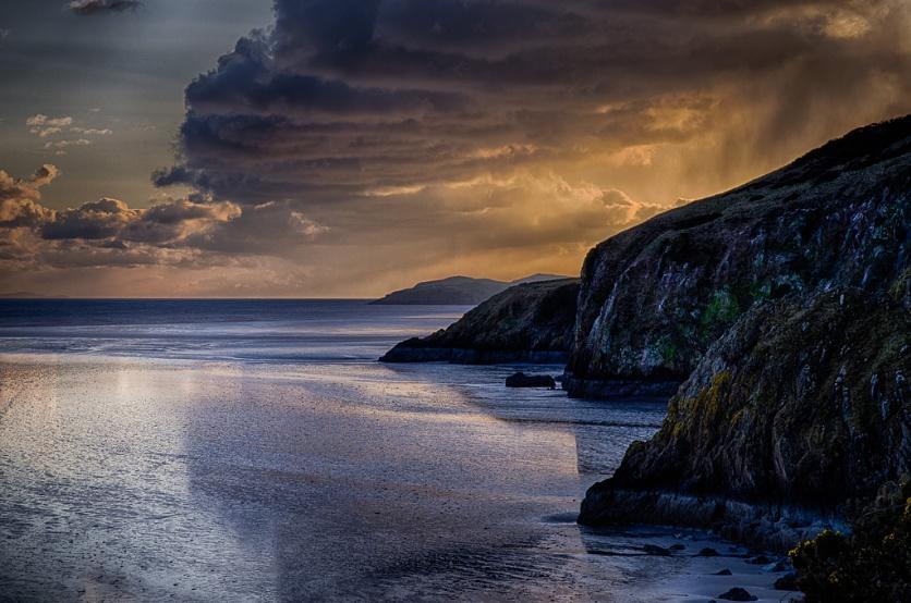 Evening winter storm