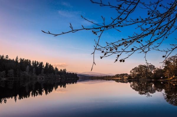 Spring dusk, Loch Ken