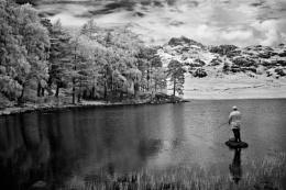 Fishing at Blea Tarn IR