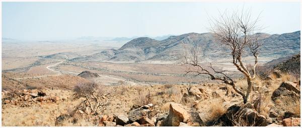 The White Road - Namib Naukluft Panorama by accipiter