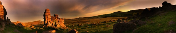 Hound Tor at Sunset by Snapper100