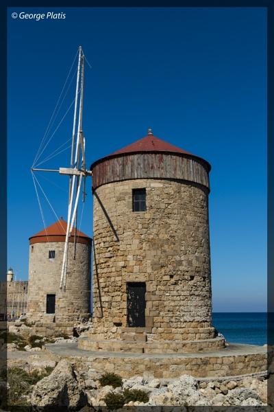Windmills of Rhodes by GeorgePlatis