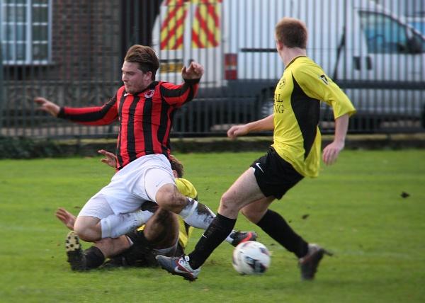 Nice tackle..... by sheep