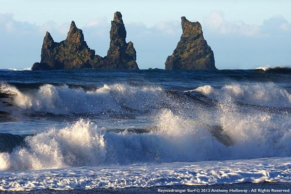 Reynisdrangar Surf by AntHolloway