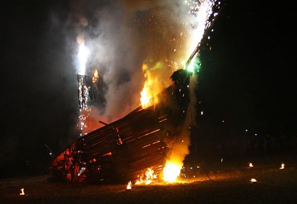 Burning Boat by versa310