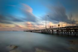 sunset at Limassol bay