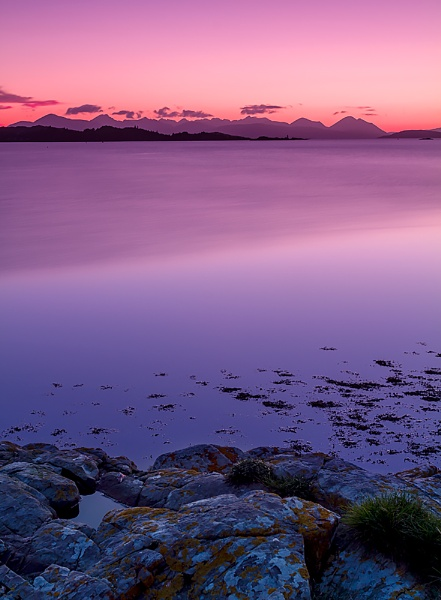 The Cuillin from Ardaneaskan, Nr Lochcarron by Skinz