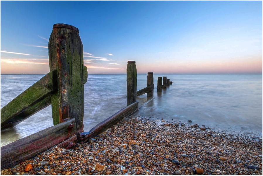 Sheerness Seaside Shingle Sunset Slowly Shot