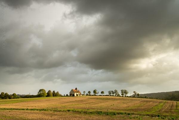 Little church in a field by rvoller