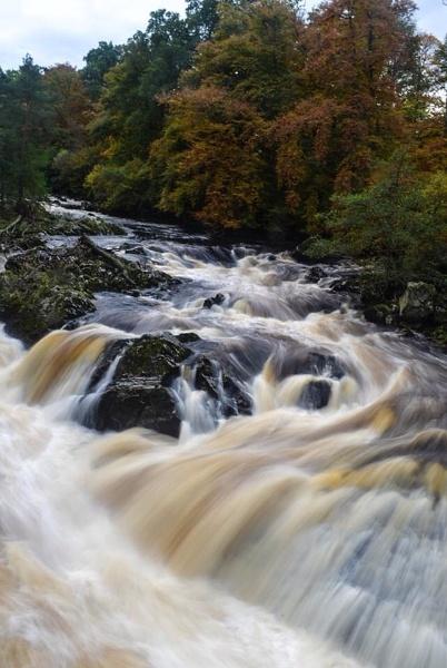 Falls of feugh after heavy rainfall by Sreidser08