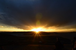 Sunset over Lake Titicaca, Peru