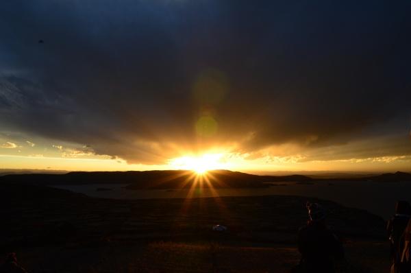 Sunset over Lake Titicaca, Peru by avon