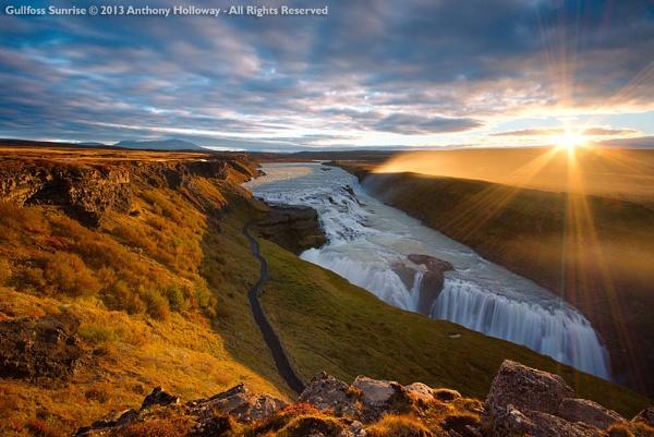 Gullfoss Sunrise by AntHolloway