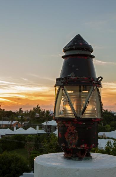 Nautical Lantern at Sunset by bridgendboy