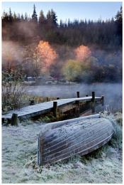 Cold, autumn morning at Loch Ard