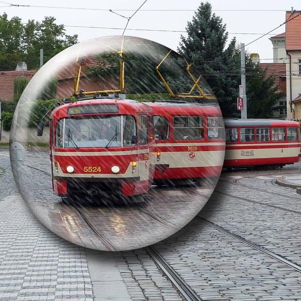 Prague tram , i gave it a bubble !! by Chrisjaz