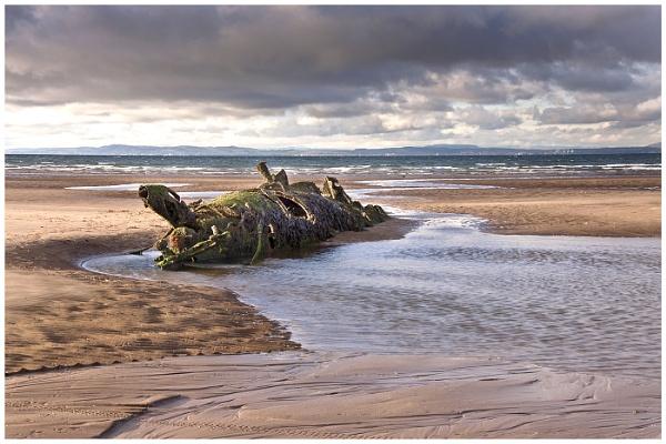 Submarine Wreck, Aberlady Bay, Scotland. by AnnJ