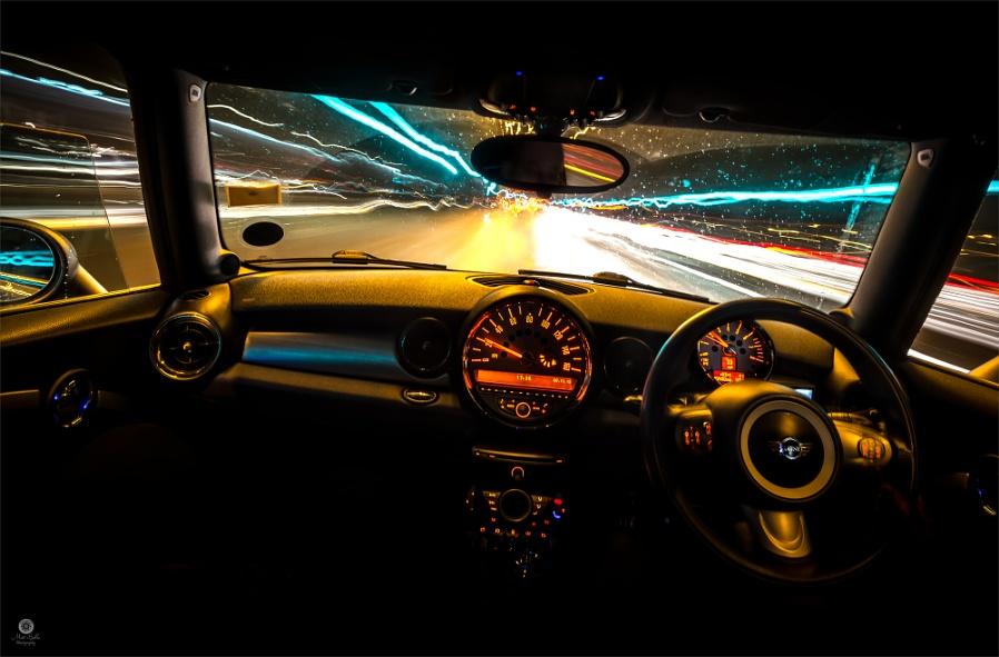 Driving Through the Rain & Light