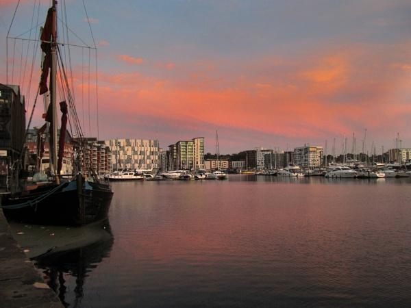 Ipswich Marina at Sunset by jrcleave77