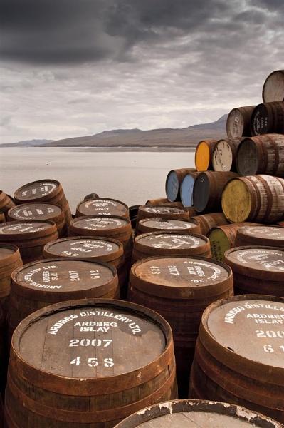 Bunnahabhain Barrels by scootphoto