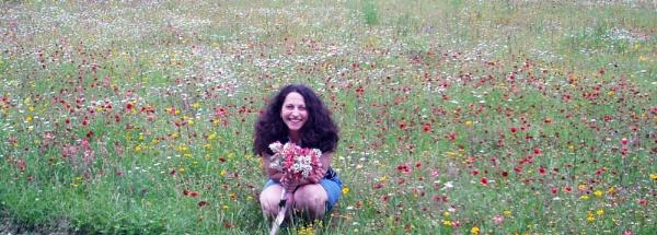 My flower with flowers among flowers. by DavidInBulgaria