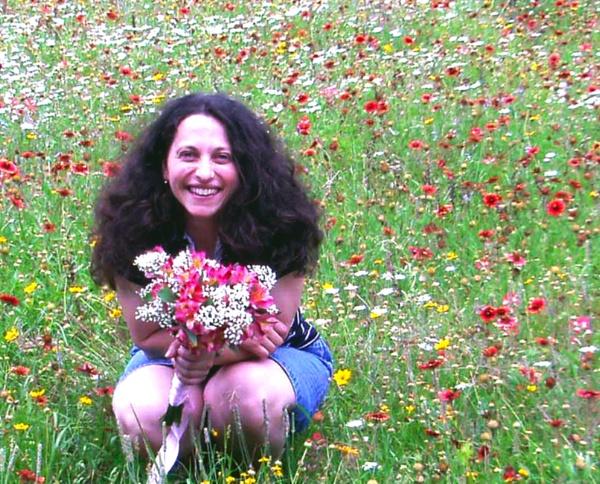 Boryana among flowers II by DavidInBulgaria