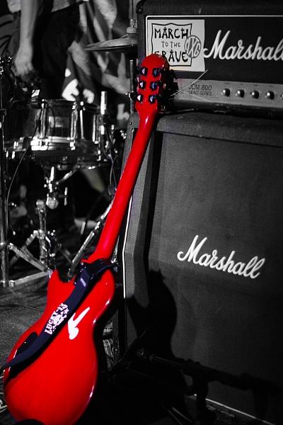 Cherry Red Guitar by Anacithidus