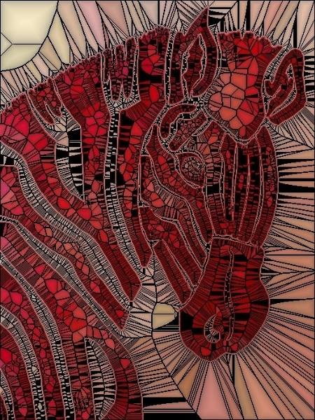 Mosaic Zebra by sakisuki