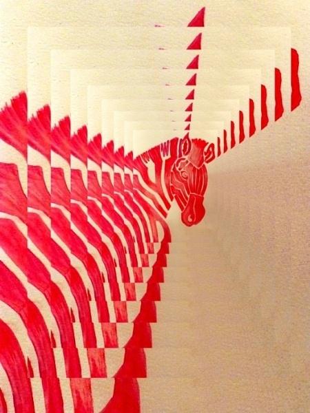 Pink Zebra by sakisuki