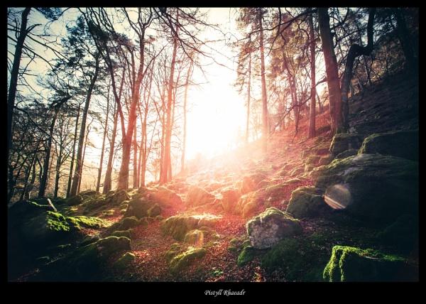 Pistyll Rhaeadr sunlit by Carl_Gough