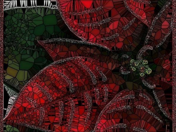 Mosaic Poinsettia by sakisuki