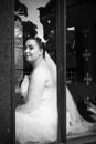Bride Looks on