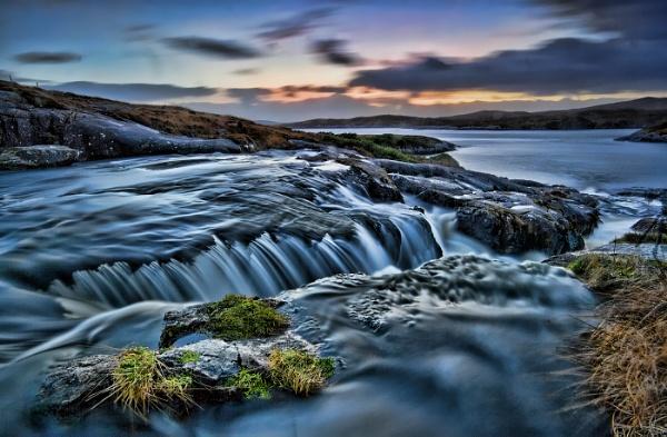 Harris Falls at dusk