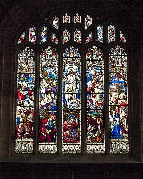 Window in St Mary Church, Astbury by ednys