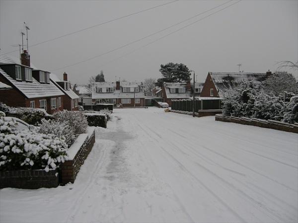 Street snow by voyger1010