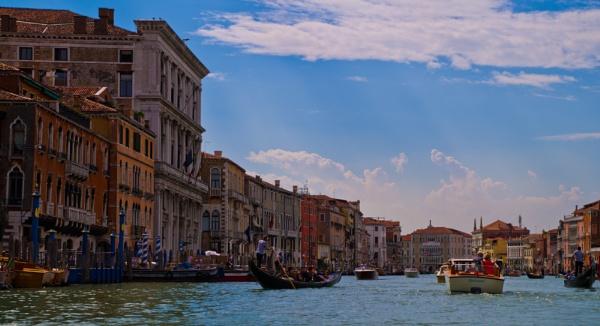A typical Venetian street scene. by 2479