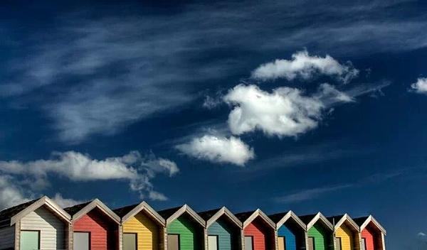 Beach Huts by AnnaBanana