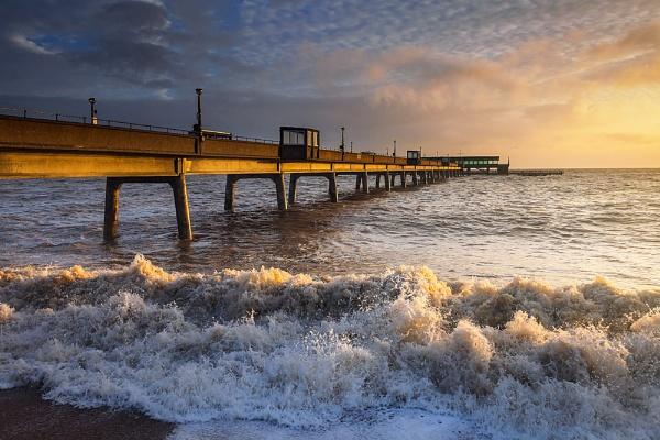 Deal Pier Moods - Big Sea by derekhansen