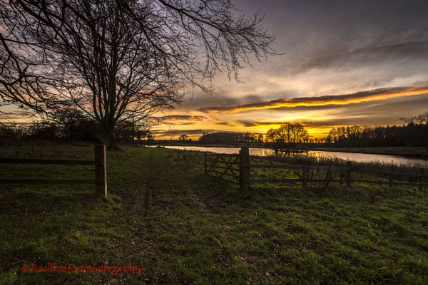Wolterton Park Sunset by PaulThetfordPhotography