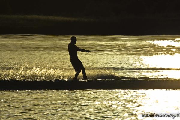 wakeboarding @sunset by wanderinwurzel