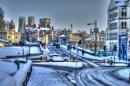 York Under Snow