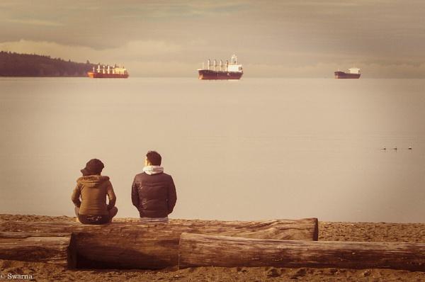 Two of us - English Bay, Vancouver BC by Swarnadip