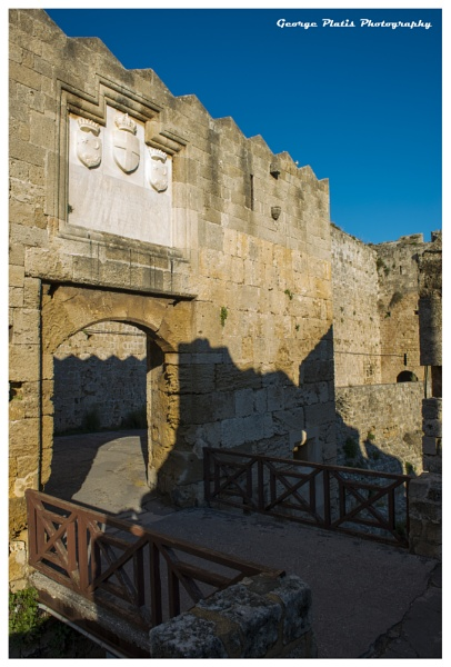 St. Athanasiou gate of Rhodes Castle by GeorgePlatis