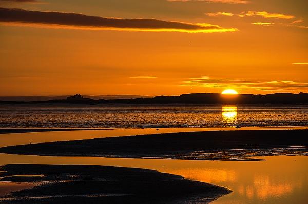 Bamburgh Castle sunrise by icphoto