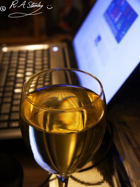 Glass of wine by happysnapperman