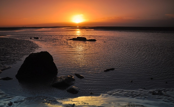Sunset across Morecambe Bay by PaulLiley