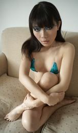 Sofa bikini portrait